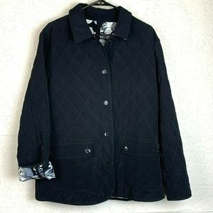 Susan Graver Reversible Jacket XL Black Button Up